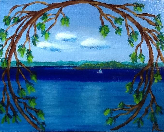 Blue skies-Higgin's lake