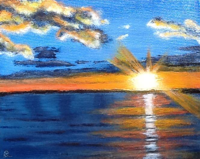sunset-higgin's lake